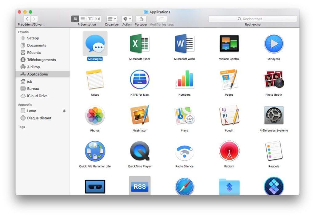 Activer Messages sur iCloud sur MacOS