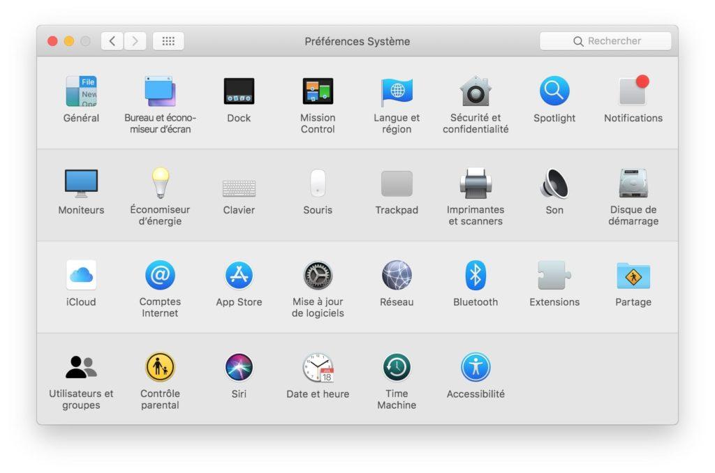 Activer le Dark Mode de macOS Mojave preferences systeme