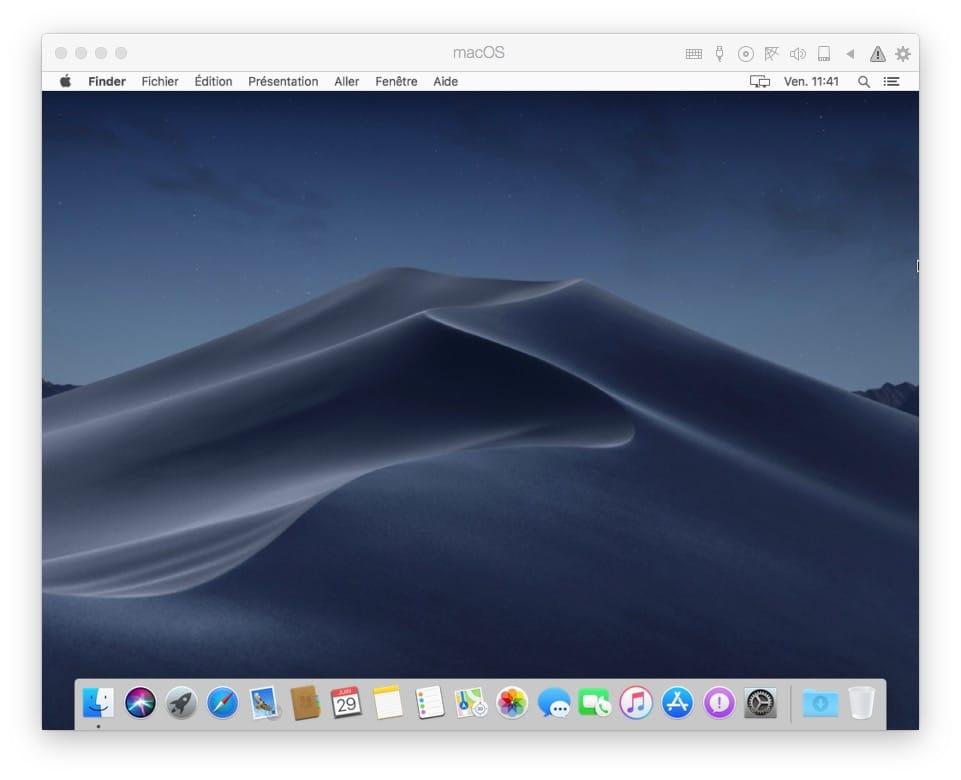 Installation macOS Mojave avec Parallels Desktop