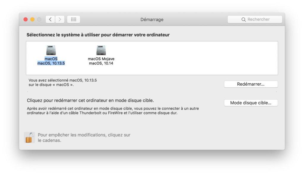 Installer macOS Mojave High sierra en dual boot