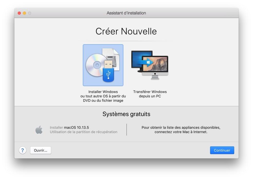 Installer macOS Mojave avec Parallels Desktop comment faire