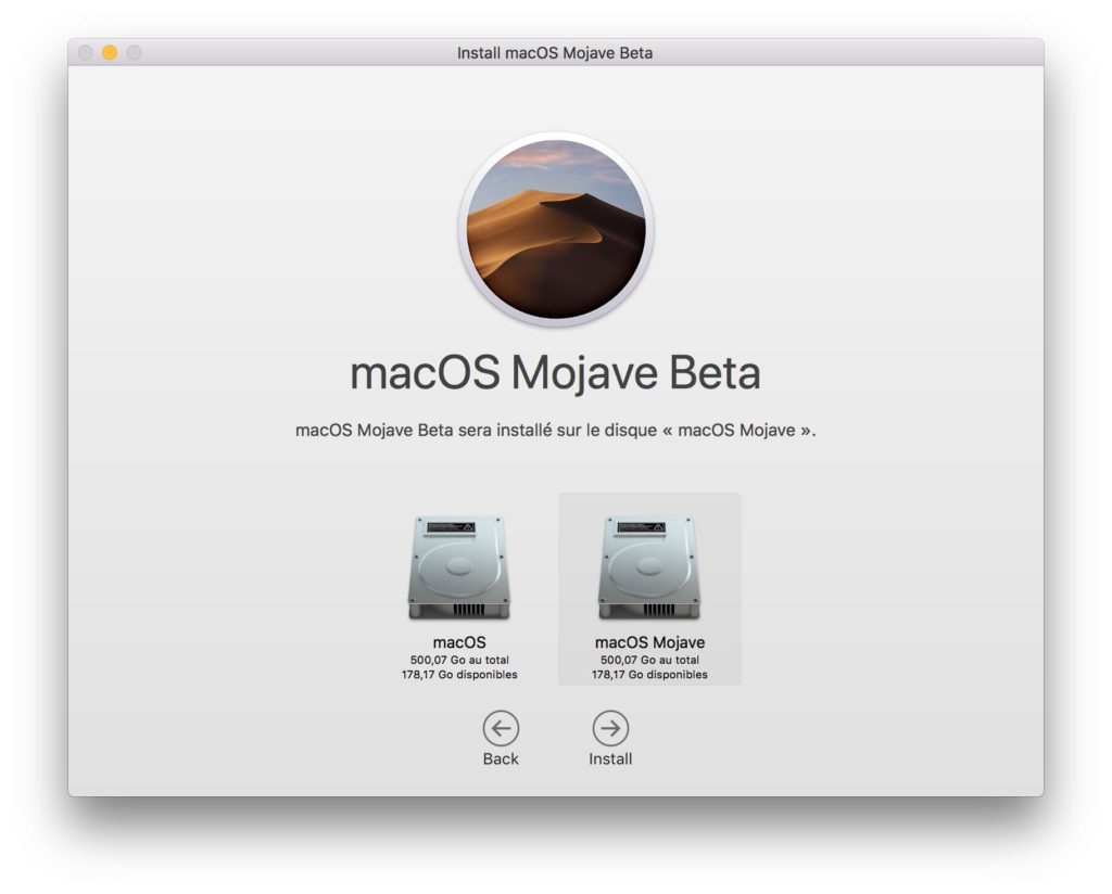 Installer macOS Mojave dual boot disque externe