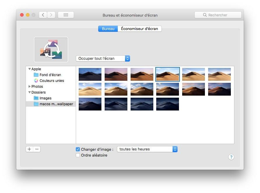 télécharger le fond d'écran macOS Mojave et activer