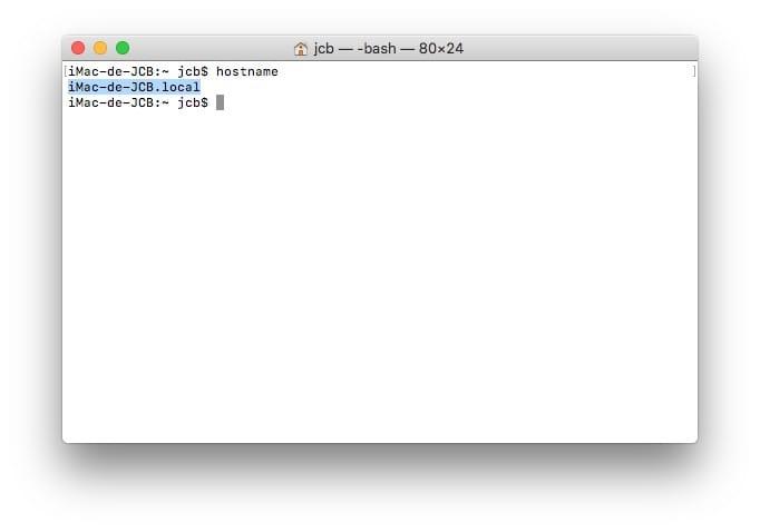 changer le nom de son Mac avec le Terminal