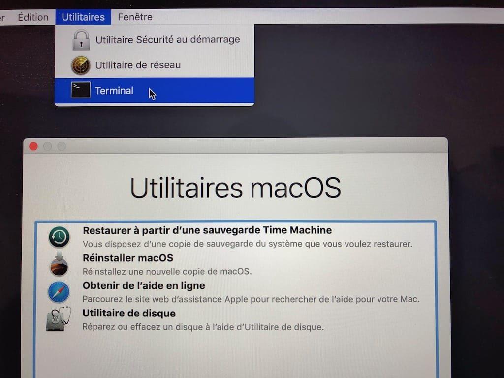 Desactiver le SIP macOS Mojave 10.14