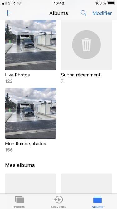 Recuperer une photo effacee sur iPhone supprime recemment