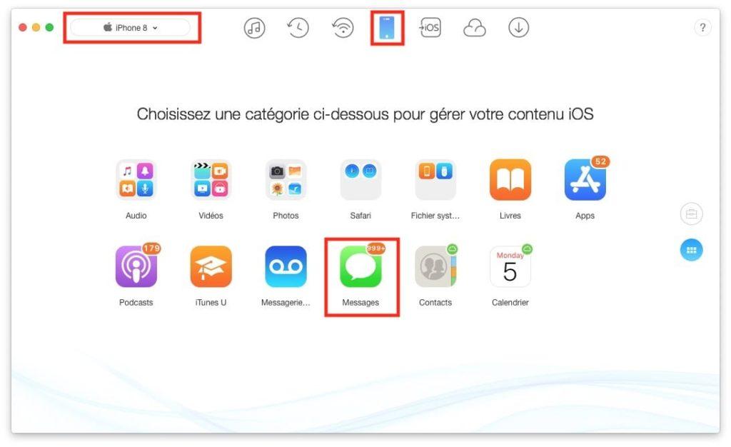 Sauvegarder les Messages de son iPhone 8 X avec Anytrans