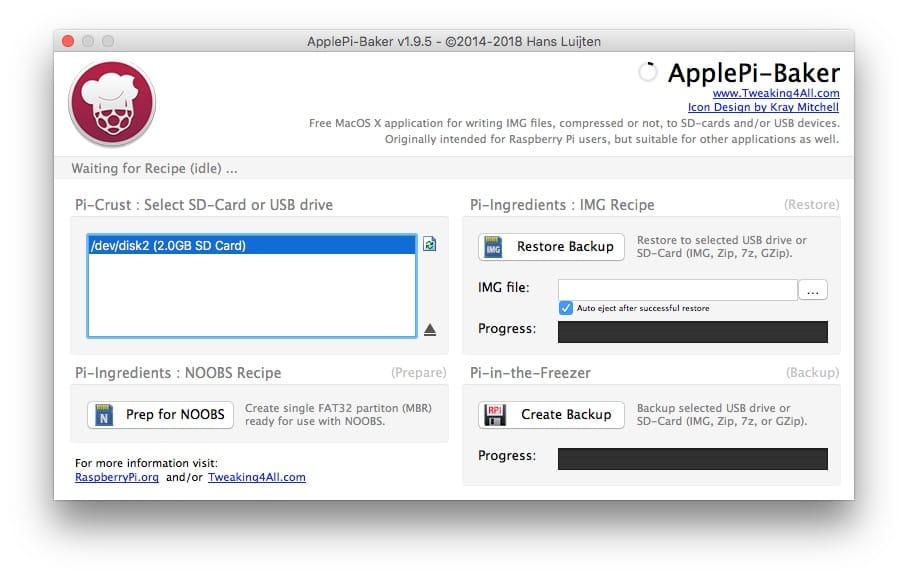 cloner une carte SD sur Mac OS