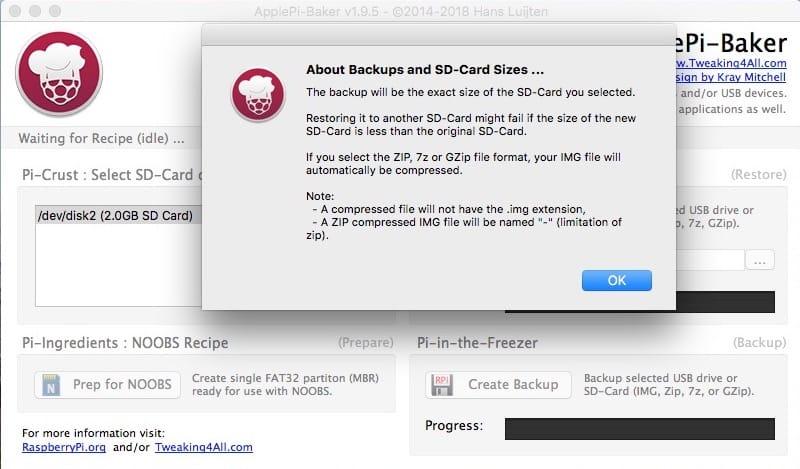 cloner une carte SD sur Mac format IMG ZIP 7z GZip ISO