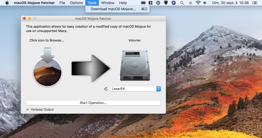 Telecharger le fichier dinstallation complet de macOS Mojave avec Macos mojave patcher