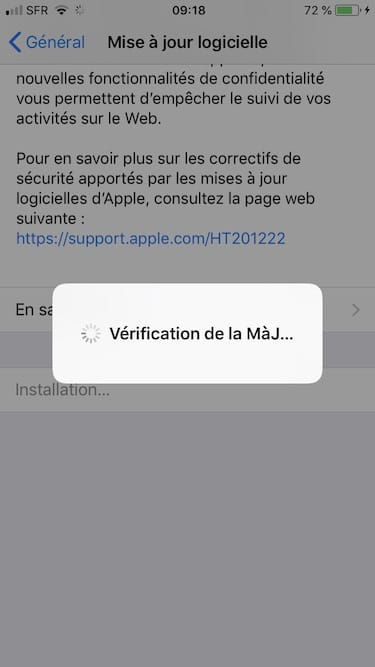 ios 12 verification installation