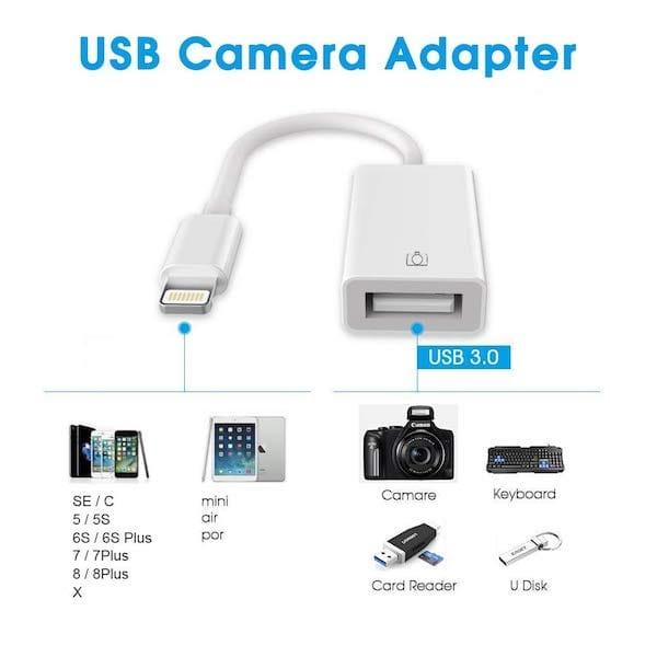 Brancher une cle USB sur un iPad iPhone ZILI