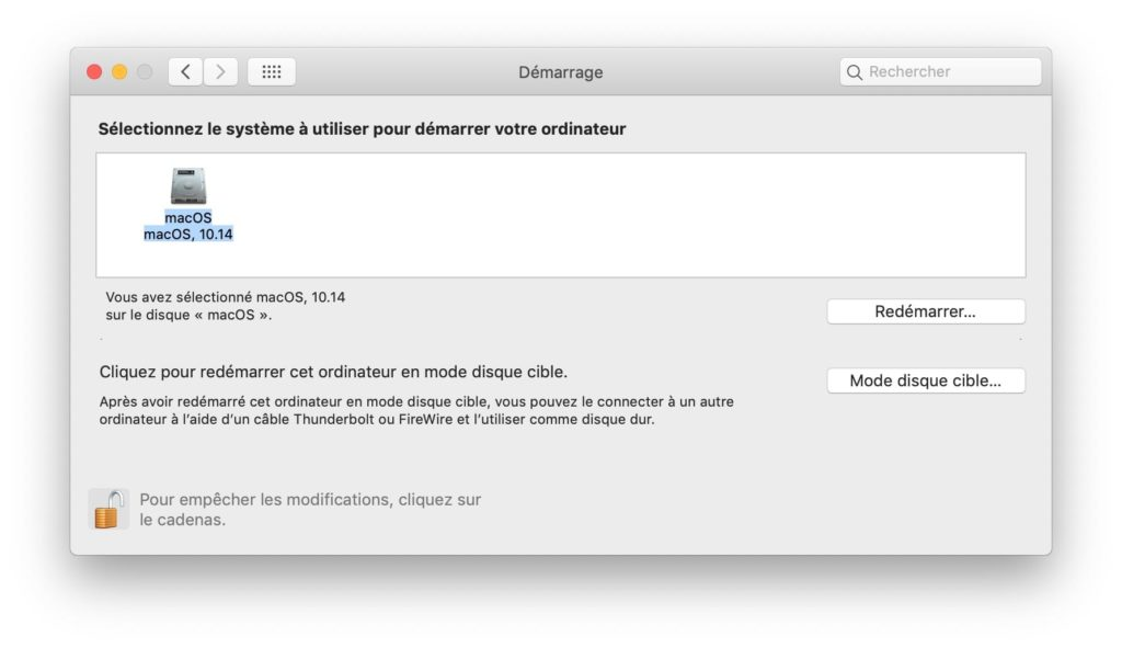 Dual boot macOS Mojave Windows 10 demarrer sur mac
