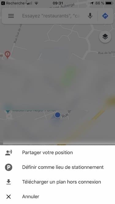 Partager sa position sur iPhone avec Google Maps