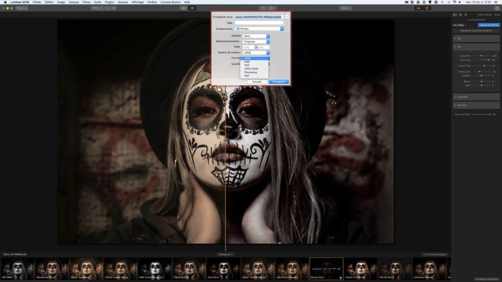 Retoucher des photos sur Mac exportation et conversions
