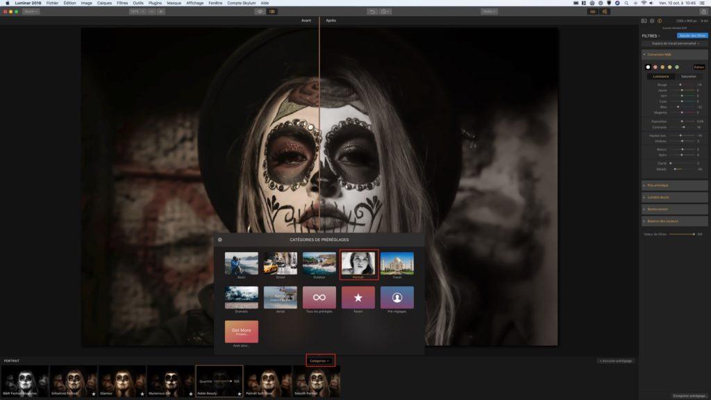 Retoucher des photos sur Mac filtres et prereglages