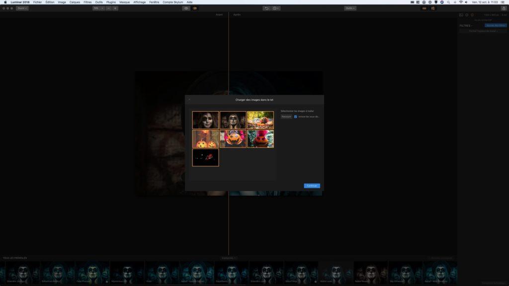 Retoucher des photos sur Mac traitement par lots