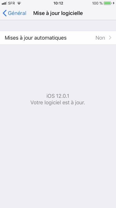 iOS12.0.1 correctif