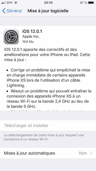 iOS12.0.1 update iphone ipad ipod touch