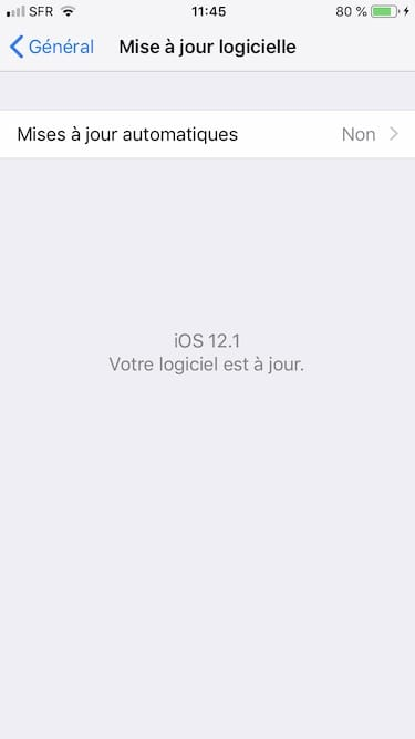 ios 12.1 installation sur iphone