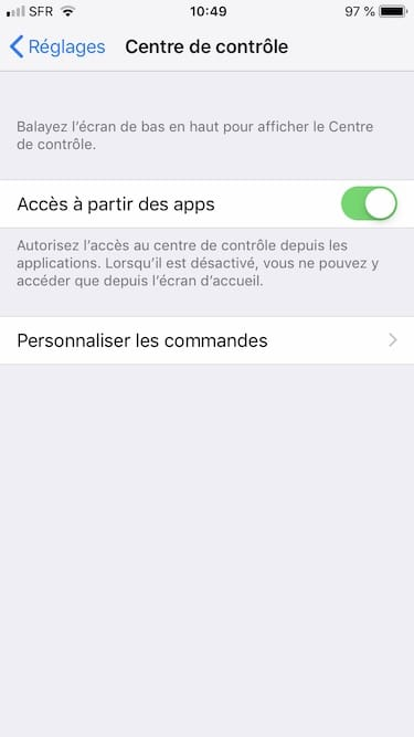 Faire une capture decran video sur iPhone personnaliser les commandes