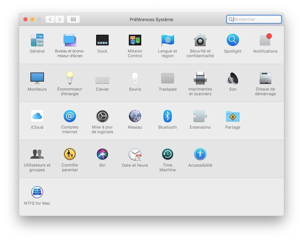 Formater en NTFS sous macOS Mojave NTFS for Mac