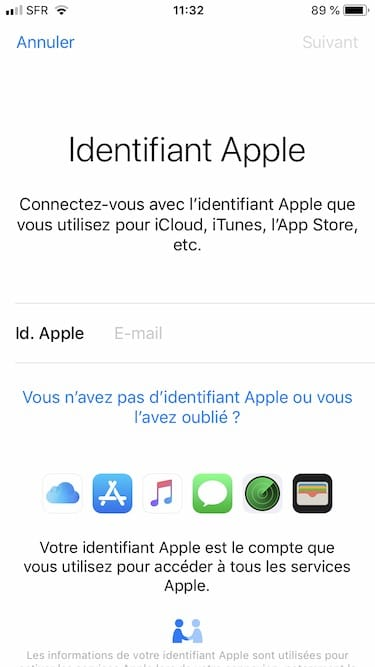 Reinitialiser le mot de passe de son iPhone identifiant apple