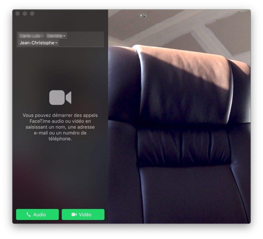 appel de groupe FaceTime sur Mac