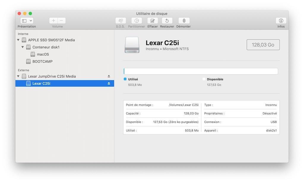 microsoft ntfs pour mac formater