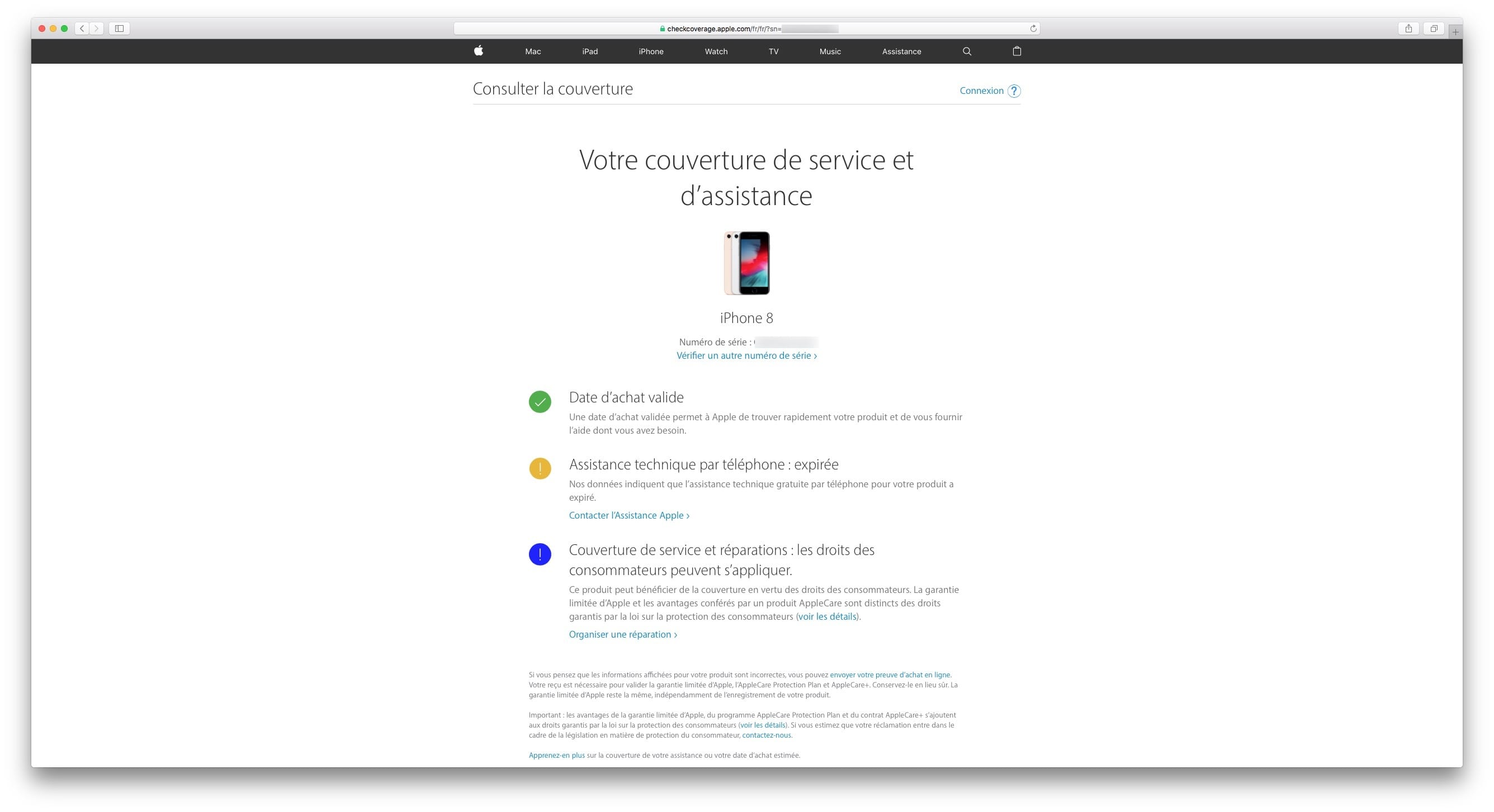 975a0722e0bdfa Vérifier la garantie de son iPhone, iPad, Mac, Apple TV - MacPlanete