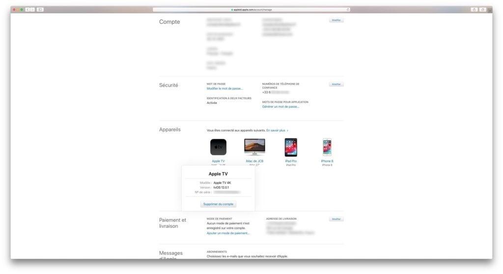 verifier numero de serie appareils apple
