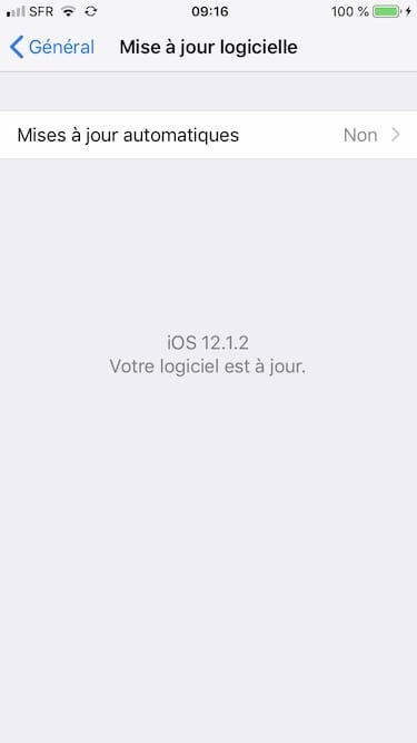 ios 12.1.2 pour apple iPhone