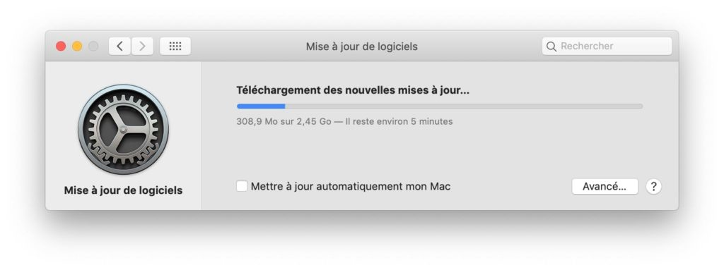 macOS Mojave 10.14.2 telechargement