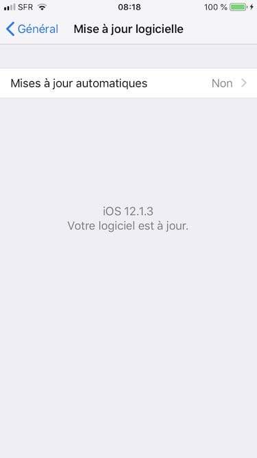 iOS 12.1.3 telecharger pour iPhone iPad