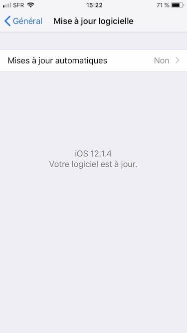 Activer les mises a jour automatiques pour iOS off par defaut
