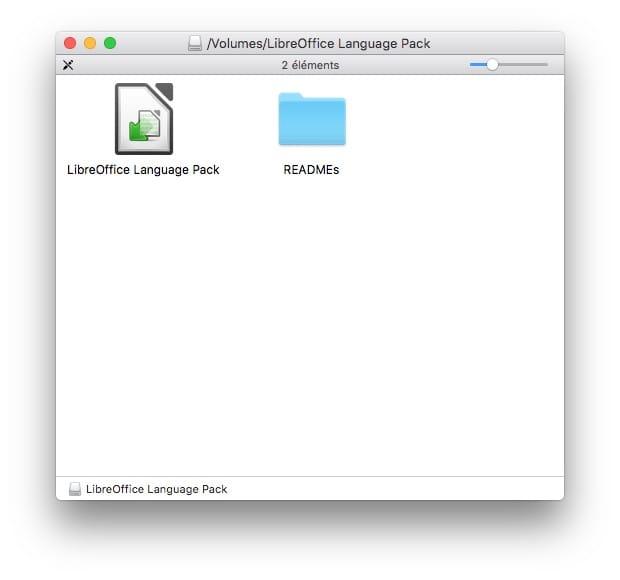 installer libreoffice sur mac en francais avec libreoffice language pack