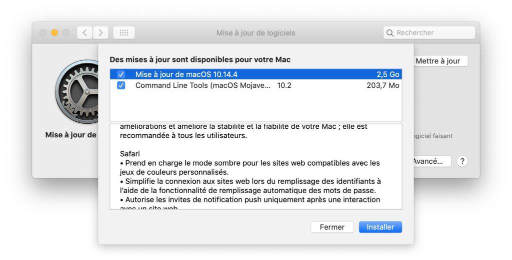 macOS Mojave 10.14.4 installer