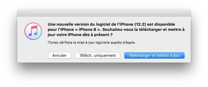 nouvelle version du logiciel de l'iphone ios 12.2