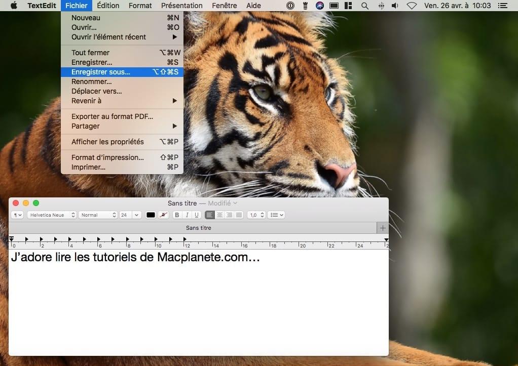 Enregistrer au format Word sur Mac avec TextEdit comment faire
