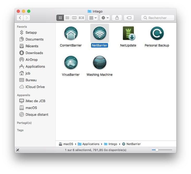 NetBarrier Intego firewall mac