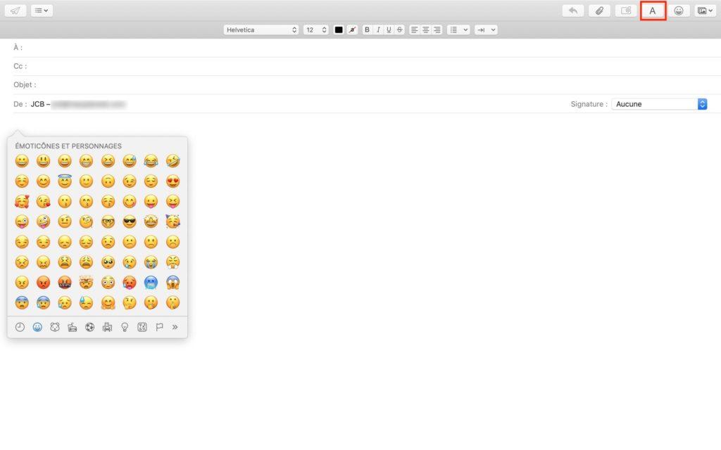 ajouter emoticone sur mac avec mail