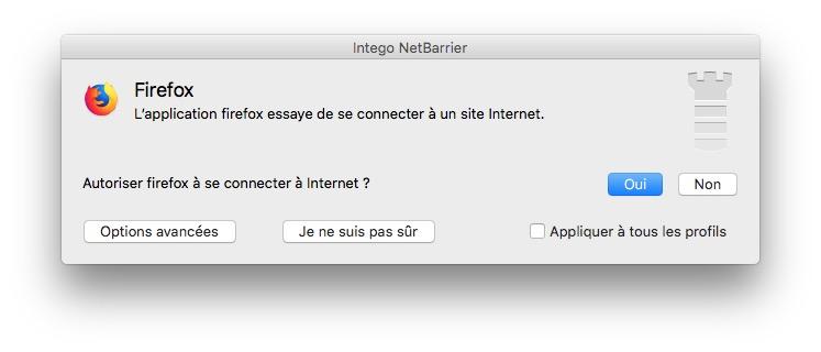autoriser connextions sortantes sur mac