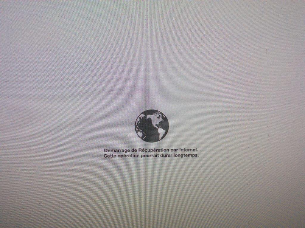 demarrage de recuperation par internet pour reinstaller son mac qui ne demarre pas
