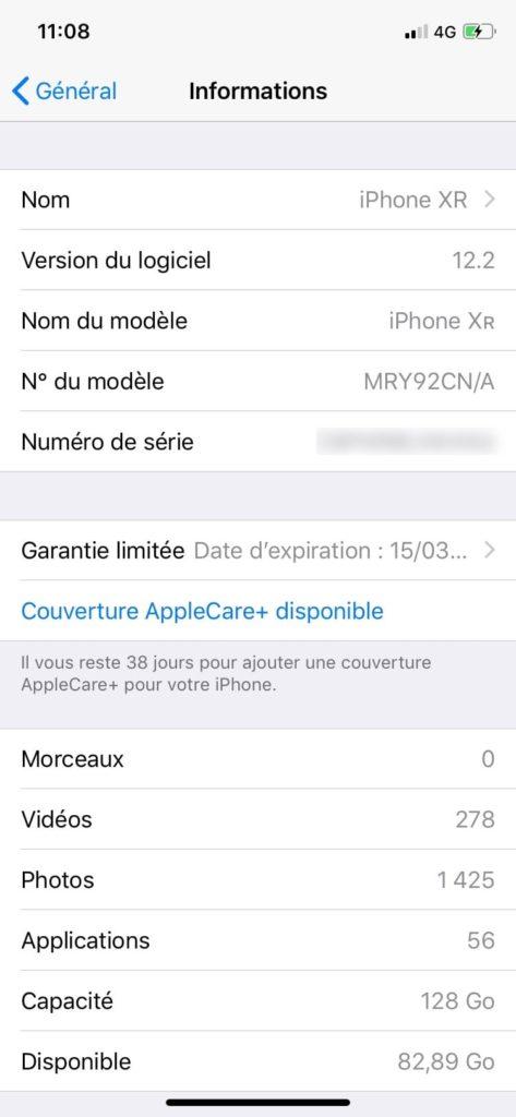 iphone garantie limitee et couverture applecare