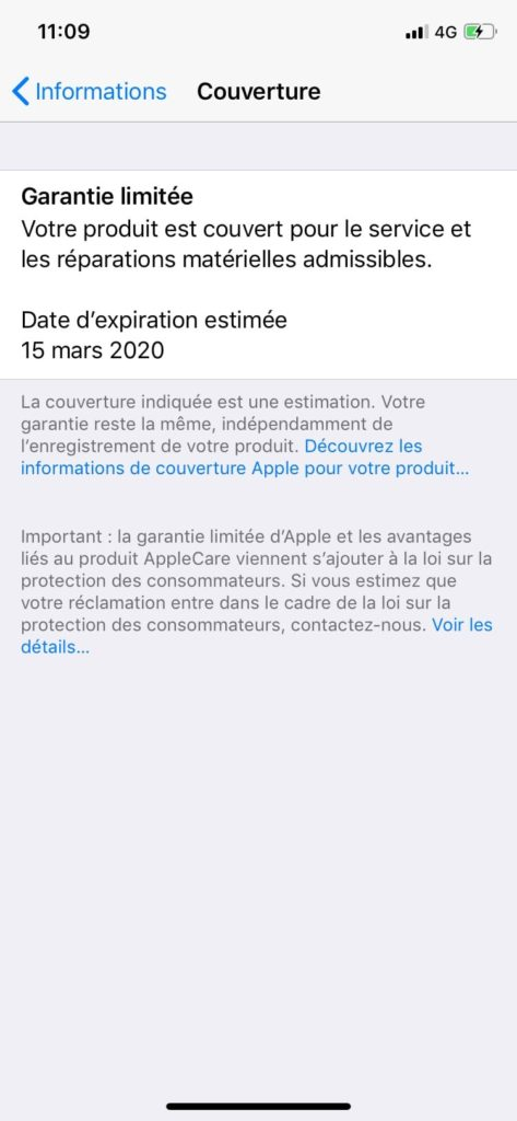 iphone ios 12.2 informations Couverture verifier
