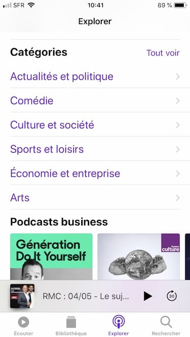 S'abonner à des podcasts abonnement podcasts sur iphone comment faire