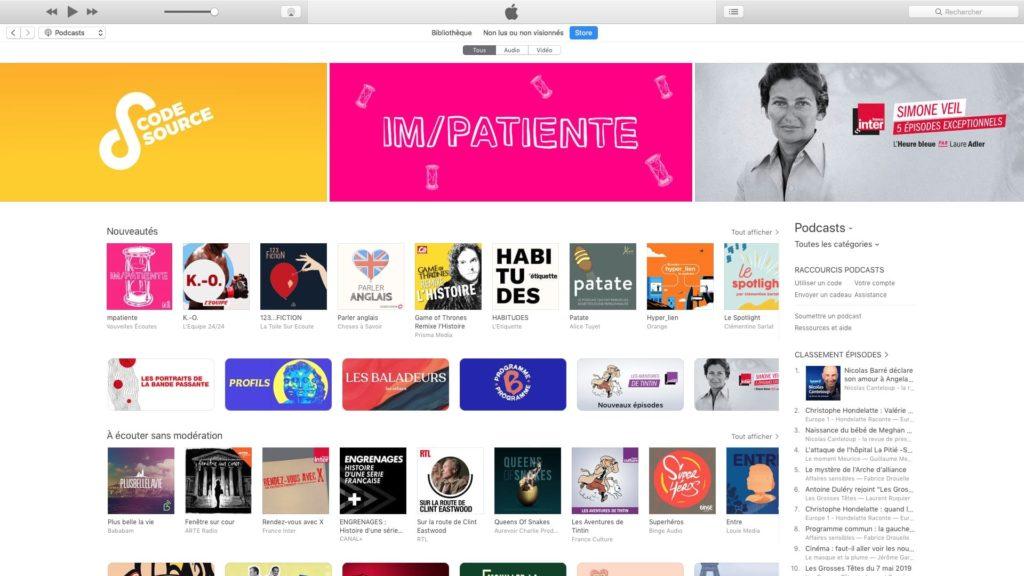 abonnement podcast mac avec itunes