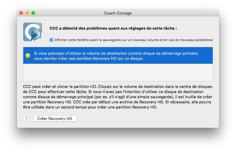 partition recovery HD pour clonage disque mac