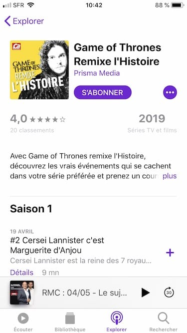 podcasts iphone abonnement