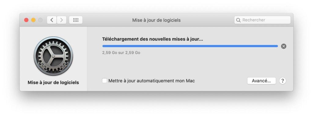 telechargement maj macos 10.14.5